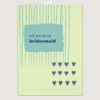 Twilight Aqua Be My Bridesmaid Card