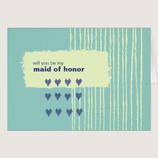 Twilight Aqua Be My Maid of Honor Card