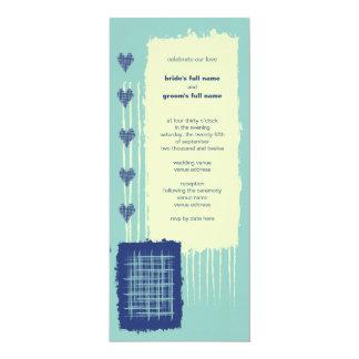 "Twilight Aqua Wedding Invitation 2 4"" X 9.25"" Invitation Card"