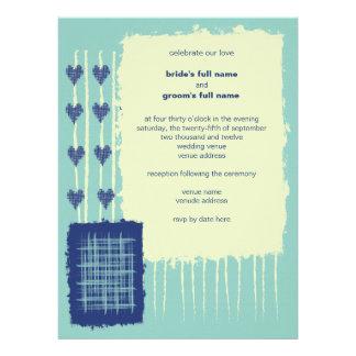 Twilight Aqua Wedding Invitation 3
