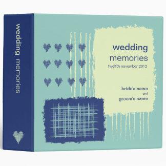 Twilight Aqua Wedding Memories Binder