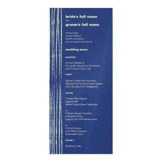 Twilight Aqua Wedding Menu Card