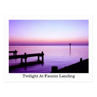 Twilight at Fannin Landing Post Cards