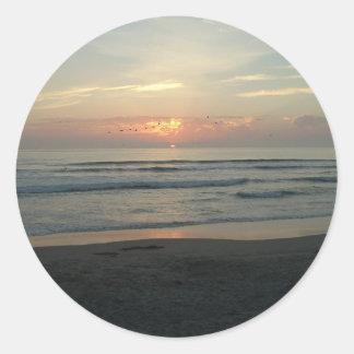 TWILIGHT AT IMPERIAL BEACH, CALIFORNIA CLASSIC ROUND STICKER