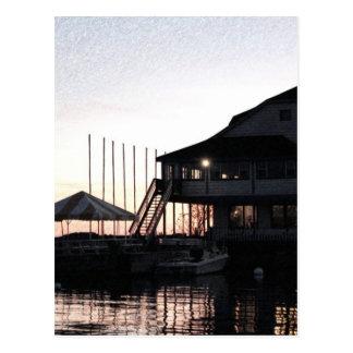 Twilight at lake waterfront, Kingston, Ontario Postcard