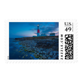 Twilight at the Portland Bill Lighthouse Postage