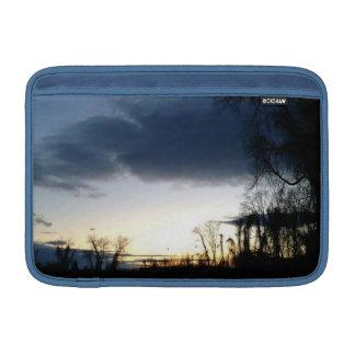 Twilight At The Tree In Winter MacBook Sleeves