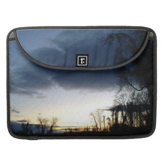 Twilight At The Tree In Winter Rickshaw Macbook Sleeve For MacBooks