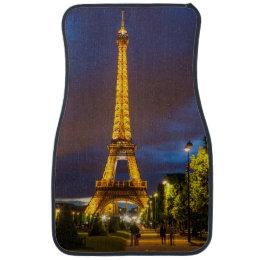 Twilight below the Eiffel Tower Car Floor Mat