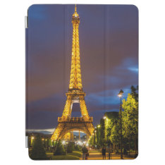 Twilight Below The Eiffel Tower Ipad Air Cover at Zazzle