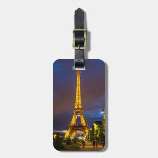 Twilight below the Eiffel Tower Luggage Tag
