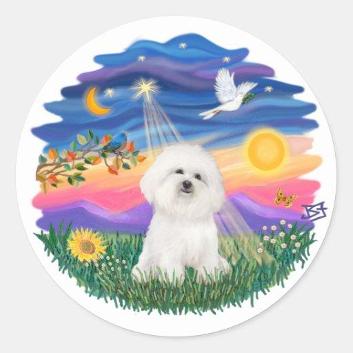 Twilight -  Bichon Frise Round Stickers