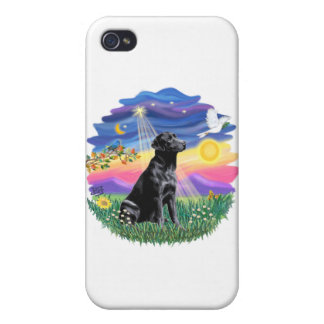 Twilight - Black Labrador Retriever Covers For iPhone 4