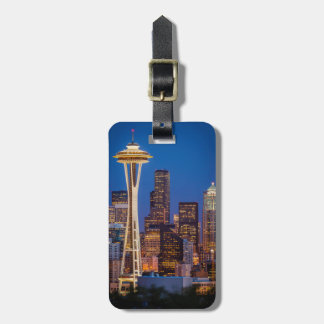 Twilight Blankets The Space Needle And Downtown 2 Bag Tag