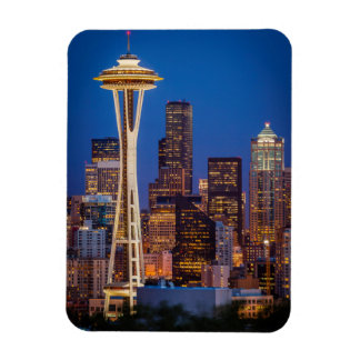 Twilight Blankets The Space Needle And Downtown 2 Rectangle Magnet