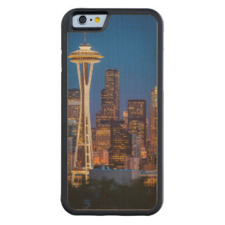 Twilight Blankets The Space Needle And Downtown 2 Carved® Maple iPhone 6 Bumper