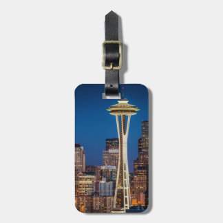 Twilight Blankets The Space Needle And Downtown Bag Tag