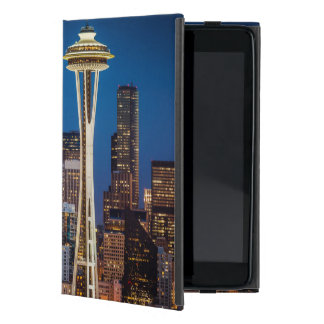 Twilight Blankets The Space Needle And Downtown Cover For iPad Mini