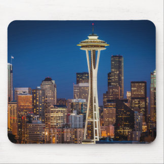Twilight Blankets The Space Needle And Downtown Mouse Pad