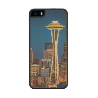 Twilight Blankets The Space Needle And Downtown Carved® Maple iPhone 5 Slim Case