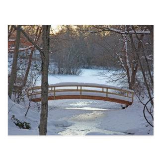 Twilight Bridge Postcard