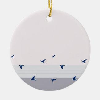 twilight ceramic ornament