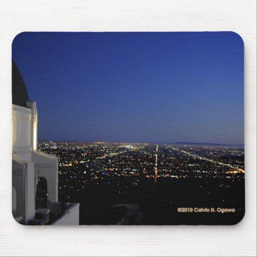 Twilight City Lights Observatory Mouse Pad