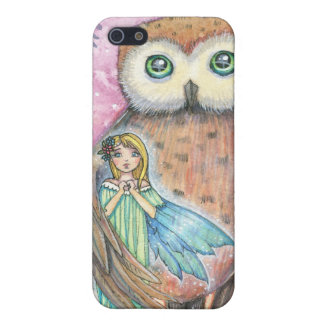 Twilight Companions Owl and Faerie iPhone Case