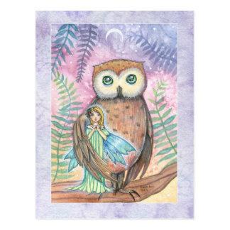 Twilight Companions Owl and Faerie Postcard