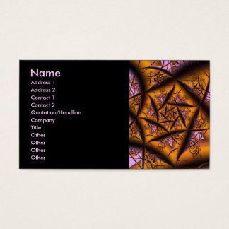 Twilight Cool Abstract Fine Fractal Art Business Card