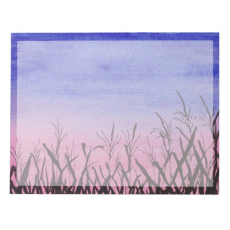 Twilight Corn Field Notepad