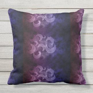 Twilight Crescent Moon Outdoor Pillow