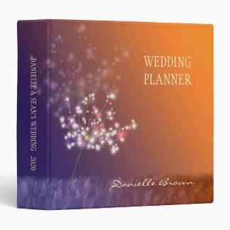 Twilight Dandelion Autumn Wedding Planner Binder
