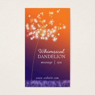 Twilight Dandelion Business Appointment Cards