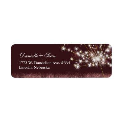 Twilight Dandelion Modern Wedding Label