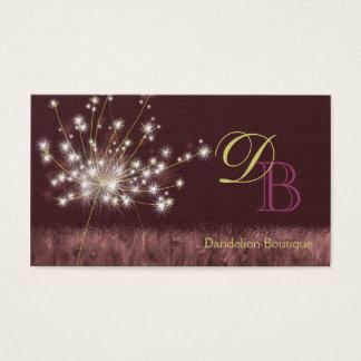 Twilight Dandelion Unique Monogram Business Cards
