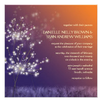 Twilight Dandelion Whimsical Floral Formal Wedding Custom Announcement