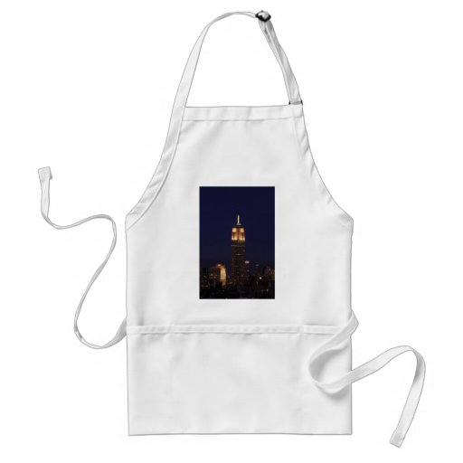 Twilight: Empire State Building lit up Pink - 02 Adult Apron