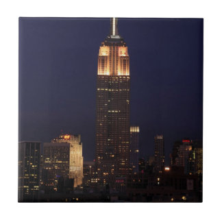 Twilight: Empire State Building lit up Pink - 02 Tile