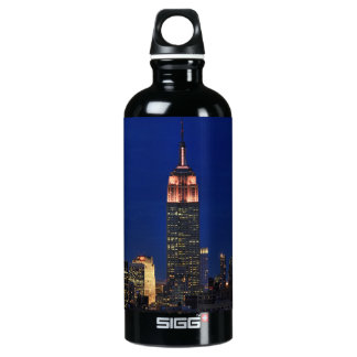 Twilight: Empire State Building lit up Pink - 03 Aluminum Water Bottle