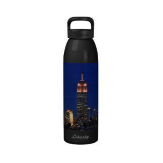 Twilight: Empire State Building lit up Pink - 03 Water Bottle