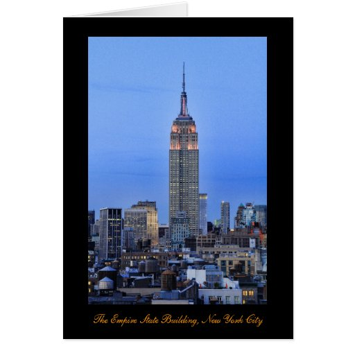 Twilight: Empire State Building lit up Pink - 04 Greeting Card