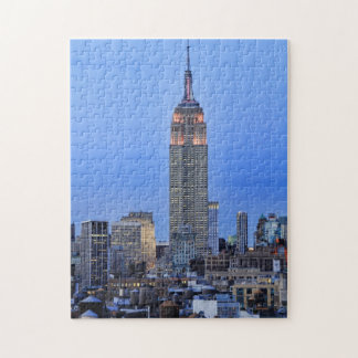 Twilight: Empire State Building lit up Pink - 04 Jigsaw Puzzle