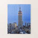 Twilight: Empire State Building lit up Pink - 04 Jigsaw Puzzles