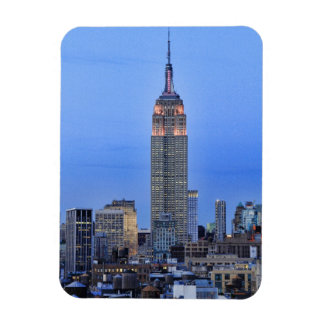 Twilight: Empire State Building lit up Pink - 04 Rectangle Magnet