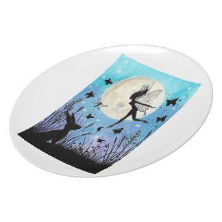 Twilight Faeries and hare plate