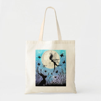 Twilight Faeries and hare tote bag