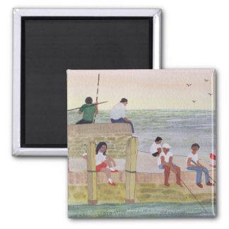 Twilight Fishing 1988 2 Inch Square Magnet