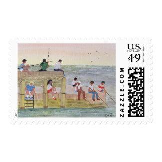 Twilight Fishing 1988 Postage