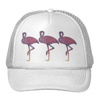 Twilight Flamingo Stylized Sunset Cap Trucker Hat